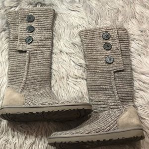 Ugg Classic Cardy Knit Sweater Boots